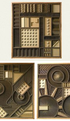 I hate these bc I didn't make them.   Corrugated Art by Mark Langan