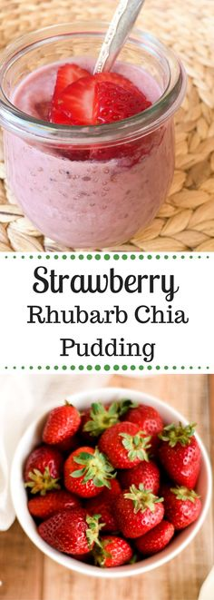 Strawberry Rhubarb Chia Pudding | Paleo | Vegan | Clean-Eating |