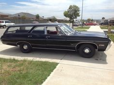 1968 Chevy Impala Hearse RHD. In 1968 the Impala was sold as either a pillarless, or pillared 4 door. !967 & earlier an Impala was pillarless, while the pillared version was a Bel Air.