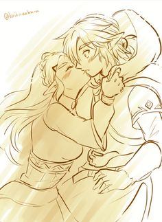 Link and Zelfa Drawing