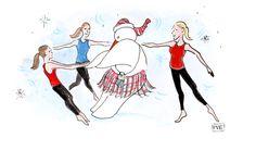 pve design -holiday artwork for LavaBarre-