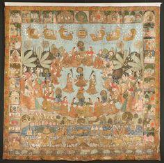 A 'RASA LILA' PICHHAVAI INDIA, RAJASTHAN, NATHADWARA, CIRCA 1850