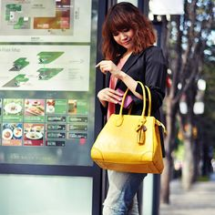 GIRLS BAG Normal YELLOW