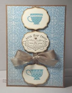 "Card made using the ""Tea Shoppe"" stamp set"