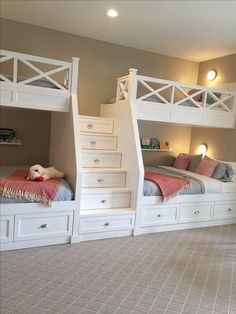 """Excellent information on """"modern bunk beds for girls& rooms"""" . - Excellent information on """"modern bunk beds for girls& rooms"""" Excellent inf - Cute Bedroom Ideas, Room Ideas Bedroom, Awesome Bedrooms, Cool Rooms, Home Bedroom, Bedroom Decor, Kids Bedroom, Bed Ideas, Small Rooms"""