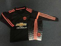 ca62403179f Kids Manchester United 2015-16 Season Third Long Sleeve Soccer Kits(Shirt+Shorts)   D411