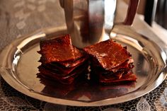 Bak kwa Jerky Recipe @ Not Quite Nigella Asian Beef Jerky Recipe, Jerky Recipes, Meat Recipes, Pork Jerky, Asian Street Food, Asian Pork, Cant Stop Eating, Malaysian Food, Asian Desserts