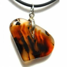 Montana Agate Pendant Necklace by Zewei Willa O'Connor.$25