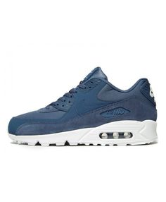 Men s Nike Air Max 90 Essential Blue Sneakers 049044 2fa85e592