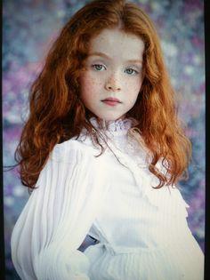redhead, vintage dress, freckles, child model, shot in daylight studio, Sam I am photography , samantha scott , 2013
