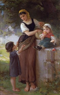 // William Adolphe Bougereau  Reposting for the baby... Cutest baby painting ever!!
