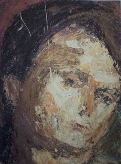 Fred Bell Paintings: Portrait painting by Frank Auerbach