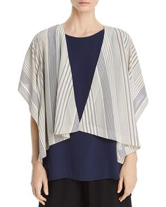 a8884d1fa54b21 Eileen Fisher Striped Silk Kimono Jacket - 100% Exclusive Sale - All Sale    Clearance - Bloomingdale s