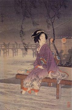 Date unknown -  Shôtei , Takahashi - Breeze at a riverside
