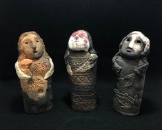 Spirit Sculptures, stoneware sculptures, Stoneware paper clay, stoneware wood fire, Margot Robinson