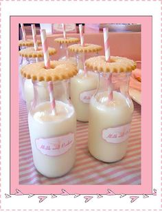 Ballerina Birthday Party: Milk and cookies