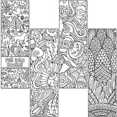 Set Out These Uncoated Ready To Color Craze Fall Bookmarks For A