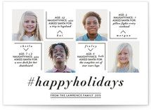 Year in Review Holiday photo cards make your cards stand out from the pile.