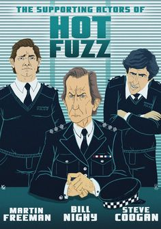 Hot Fuzz by Krisztián Király I Carried A Watermelon, Cult Movies, Films, Little Britain, Simon Pegg, The Three Musketeers, Alternative Movie Posters, Fuzz, Illustrations And Posters
