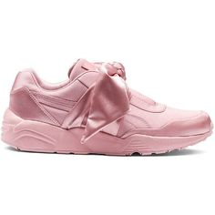 Fenty by Puma Bow Satin Sneakers ( 170) ❤ liked on Polyvore featuring  shoes a700c1c5083b