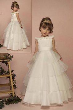 London Boutique Organza Princess Flower Girl Dress
