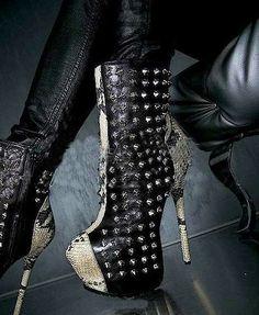 Fashionable Spike Boots