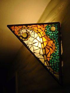 lamparas en vidrio mosaico - Buscar con Google