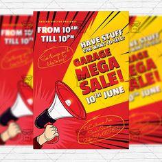Garage Mega Sale – Premium Flyer Template + Instagram Size Flyer http://www.exclusiveflyer.net/product/garage-mega-sale-premium-flyer-template-instagram-size-flyer/