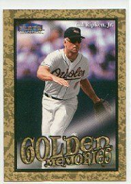 1999 Fleer Tradition Golden Memories #11 Cal Ripken by Fleer Tradition. $8.20. 1999 Fleer Inc. trading card in near mint/mint condition, authenticated by Seller