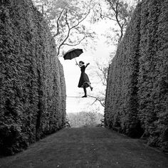 Rodney Smith, Kelsey Balancing on Tightrope, Amenia, NY , Robert Klein Gallery Famous Photographers, Portrait Photographers, Rodney Smith, Photo D Art, Photoshop, Black N White Images, Surreal Art, Black And White Photography, Art Photography