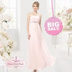 BNWT-JASMINE-Chiffon-Jewel-Pale-Pink-Bridesmaid-Prom-Wedding-Dress-UK-SALE