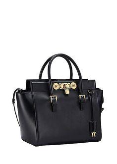 Large Signature Lock Handbag