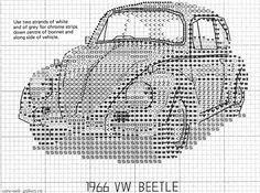 VW Beetle backstitching