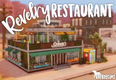 revelry restaurant by ratboysims Sims 3 Houses Ideas, Sims Ideas, Sims 4 Restaurant, Sims 4 Stories, The Sims 4 Lots, Buildings Artwork, Sims Freeplay Houses, Sims 4 House Design, Sims House Plans