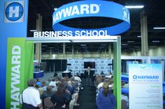 This year, Hayward brought their School of Business to the show floor. Attendees were excited for this education opportunity available right on the floor.
