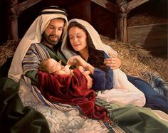 "My uncle Danny did this painting! :) ""They Called His Name Jesus"" by Daniel Freed. © All rights reserved. Christmas Jesus, Christian Christmas, Christmas Nativity, Merry Christmas, Christmas Music, Christmas Diy, Images Du Christ, Pictures Of Christ, Catholic Art"