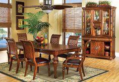 Cindy Crawford Home Key West Dark Leg 5 Pc Diningroom