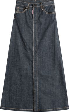Roberto Cavalli - Paneled Stretch-denim Maxi Skirt - Mid denim ...