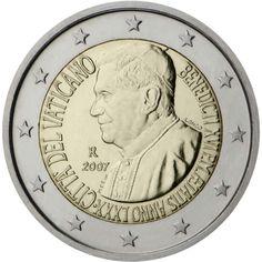 pièce de 2 euro commémorative . Vatican 2007