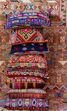 Ethnic Decor, Moroccan Decor, Moroccan Style, Bohemian Decor, Textiles, Deco Boheme, Art Textile, Decoration, Pillow Shams