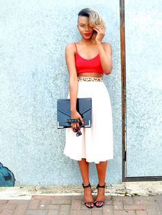 30 Perfect Outfits That Combine Crop Tops and MidiSkirts   StyleCaster