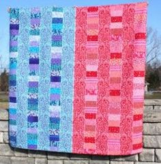 17 Free Bed Quilt patterns to warm up to with 14 new projects - this one:  His and Hers Bed Quilt