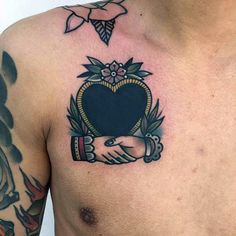 60 Handshake Tattoo Designs For Men - Symbolic Ink Ideas - Man Style Chest Tattoo, Arm Tattoo, Sleeve Tattoos, Tattoo Ink, Trendy Tattoos, Unique Tattoos, Couple Tattoos, Tattoos For Guys, Traditional Heart Tattoos