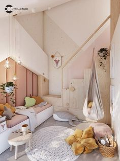 Interior trends and room decor ideas for the perfect kids room inspiration Girl Room, Girls Bedroom, Bedroom Ideas, Bedroom For Kids, Childrens Bedrooms Girls, Bedroom Decor, Room Kids, Bedroom Wall, Nursery Ideas