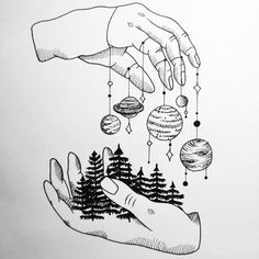 provocative-planet-pics-please.tumblr.com Dont know what was I thinking while drawing this but I like it #hands #higherforce #forest #planets #nature #minimalism #tattoo #draw #drawing #scribble by lets_scribble https://instagram.com/p/-ZQPv9Mflm/