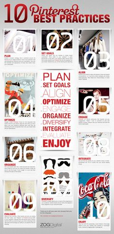 10 best practices for #Pinterest and using it for your brand. - #Infographic #socialmedia