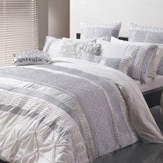 Ultima SARA SILVER Quilt Covers | shopinside.com.au