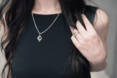 FAIIINT details, Bloody Mary Metal silver Tribal Moon necklace, Personalised Stack rings & Fire Alchemy ring.