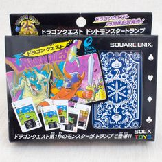 Dragon Quest Trump Playing Cards Square Enix Toy JAPAN GAME NES 25th Anniversary