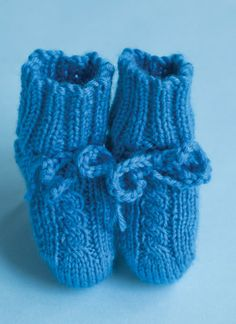 Pattern #6 Rib and Cable Booties